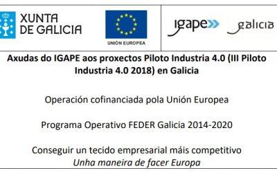 Premios e axudas do Igape aos proxectos piloto Fábrica 4.0 en Galicia